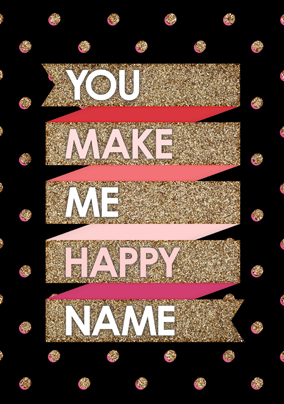 To the Stars - You make me Happy Poster