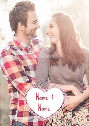 Candy Cane Lane - Heart Full Photo Upload Poster