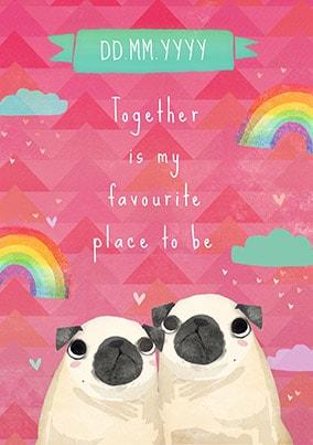 Pugs Personalised Poster