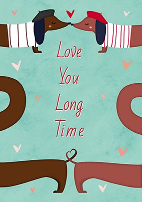 Love You Long Time Personalised Poster