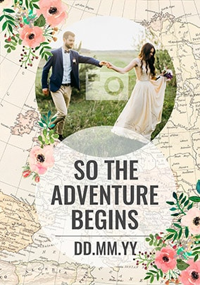 The Adventure Begins Photo Poster