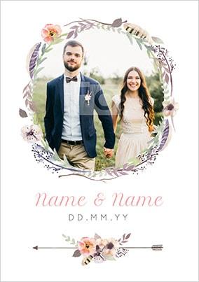 Boho Wedding Photo Poster