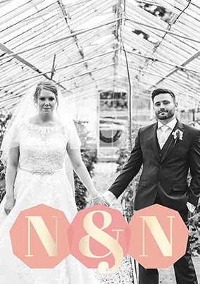 Couples Initials Photo Poster