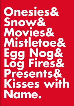Big Names Christmas Faves Poster