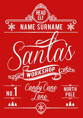 Candy Cane Lane Santa's Workshop Poster