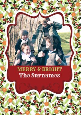 Festive Spice Merry & Bright Poster