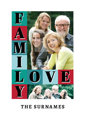 Personalised Photo Upload Poster - Family Love Essentials