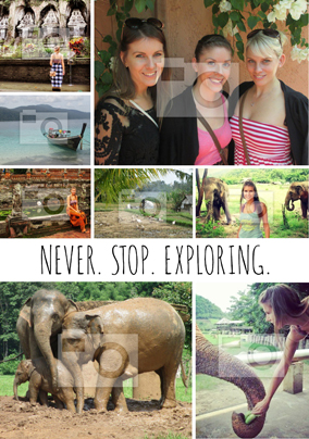 Personalised Photo Upload Poster - Never Stop Exploring Essential