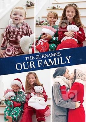 Family Banner Multi Photo Poster