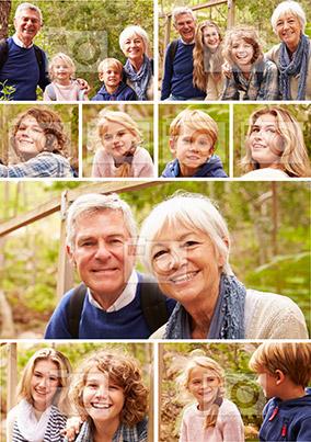 9 Photo Portrait Poster