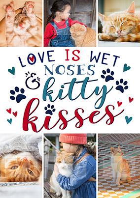Kitty Kisses Multi Photo Small Poster